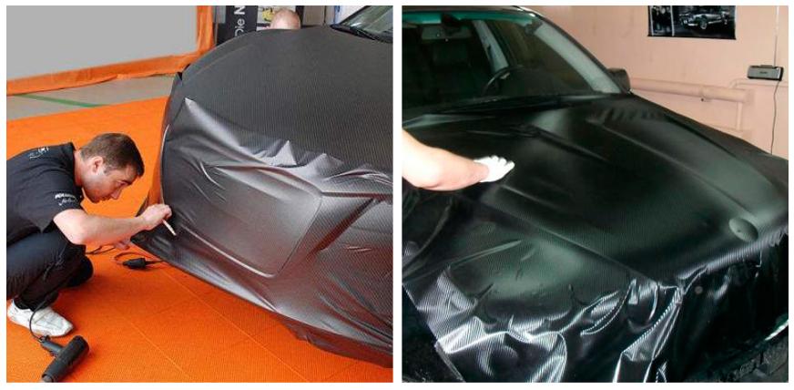 Как наклеить карбоновую пленку на автомобиль своими руками