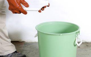 Как самостоятельно развести клей для плитки