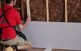Как самому клеить гипсокартон на стену (видео)
