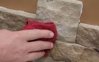 Чем приклеить искусственный камень
