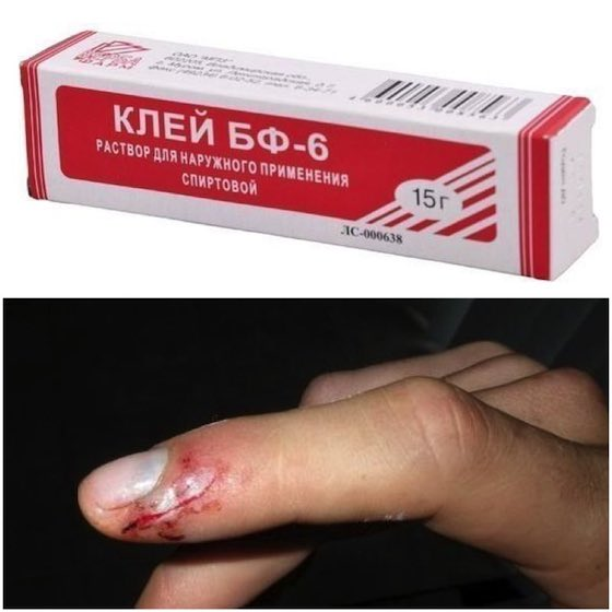 Клей для ран и порезов бф-6: инструкция по применению.