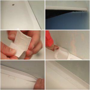 Технология наклейки бордюрной ленты