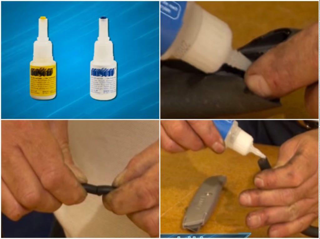 Процесс проведений склейки резины
