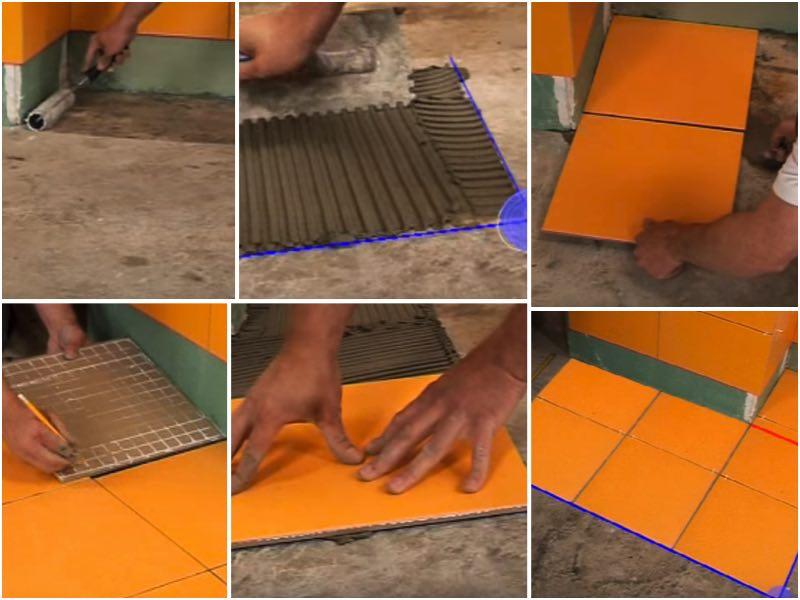Укладки плитки на пол