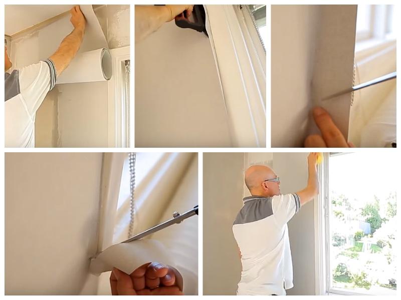 Как наклеивать у окна