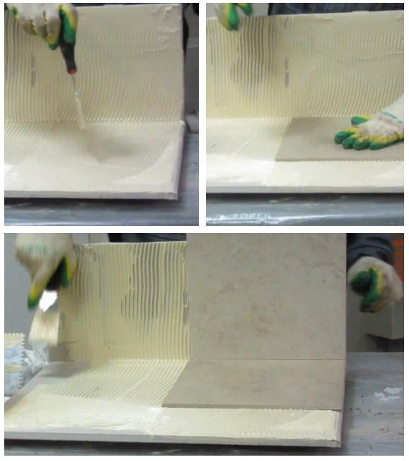 Полимерный клей можно использовать и для плитки