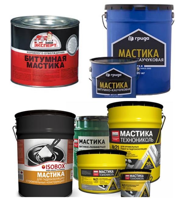 Основные виды битумных мастик